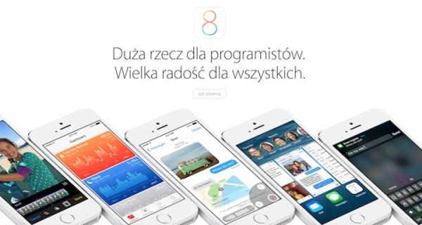 Apple uaktualniło polskie strony o iOS 8