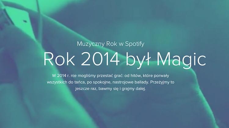 Muzyczny rok 2014 w Spotify