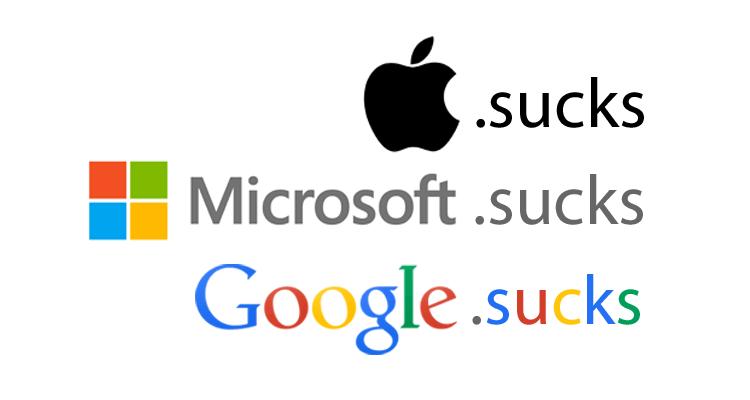 Domeny .sucks wykupione przez gigantów technologicznych