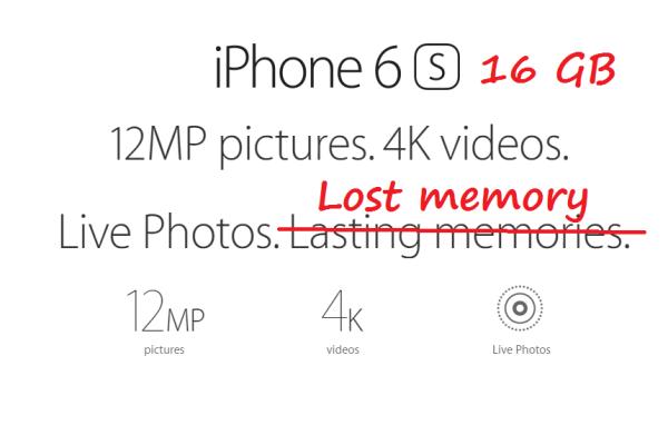 iPhone 6s z 16 GB to jest żart