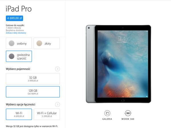 Ceny iPada Pro w Polsce