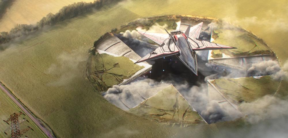 Kadr z filmu pt. Twardowsky 2.0 - start statku kosmicznego