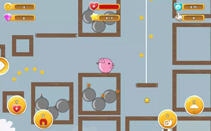Screen z gry mobilnej Fatty Animals - Grube zwierzęta