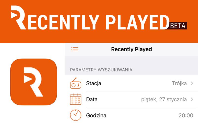 Recently Played - aplikacja do wyszukiwania piosenek granych w radiu