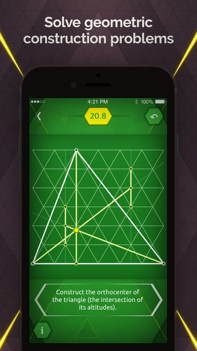 Pythagorea 60°: Geometry on Triangular Grid (screen iOS)