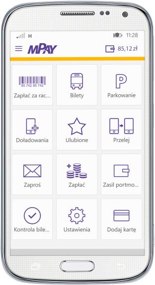 mPay - screen z aplikacji