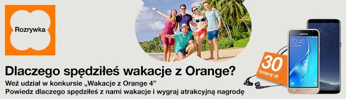 """Konkurs doładowań na kartę """"Wakacje z Orange"""" (sierpień 2017)"""