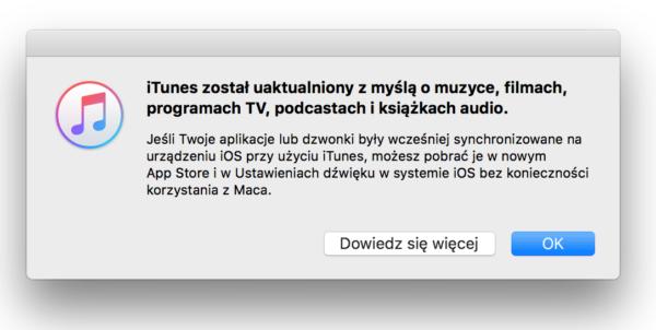 W iTunes 12.7 nie ma już aplikacji ze sklepu App Store