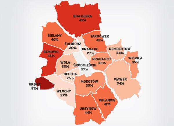 Jak przemieszczają się użytkownicy smartfonów w Warszawie?