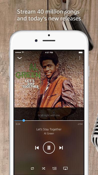 Amazon Music Unlimited (screen aplikacji)