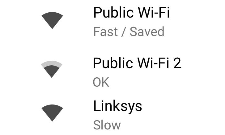 Określanie prędkości publicznych sieci Wi-Fi pod Androidem 8.1