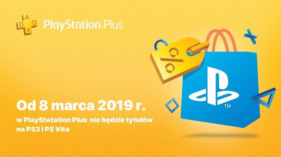 Od 8 marca 2019 roku Gry co miesiąc w PlayStation Plus nie będą obejmowały tytułów na konsole PS3 i PS Vita