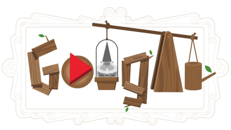 Google Doodle - Historia krasnali ogrodowych