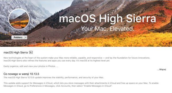 macOS 10.13.5 ze wsparciem dla Wiadomości w iCloud