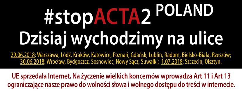 #StopACTA2 Poland (2018)