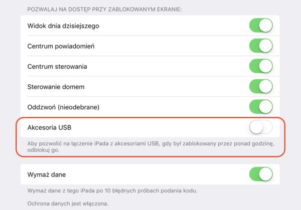 iOS 11.4.1 to przede wszystkim ograniczenie dostępu przez USB