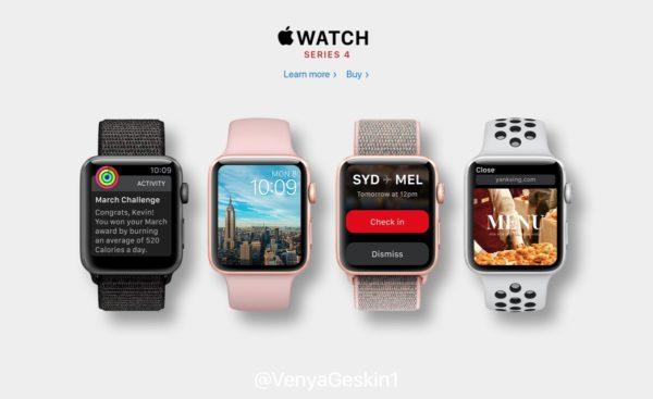 Najnowsze doniesienia na temat Apple Watch Series 4