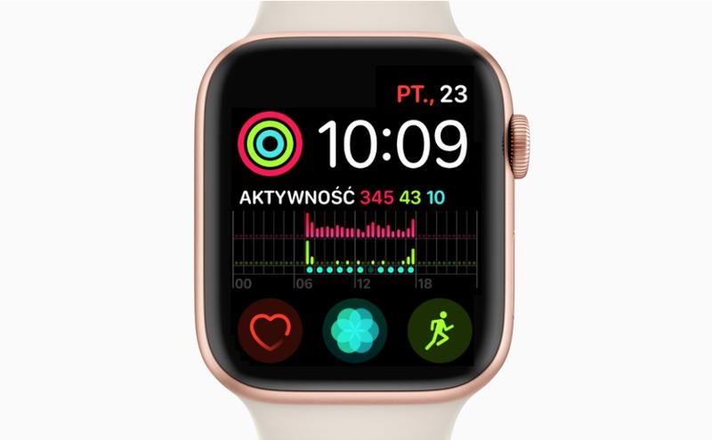 Apple Watch Series 4 z tarczą Infograph Modular (błąd związany ze zmianą czasu)