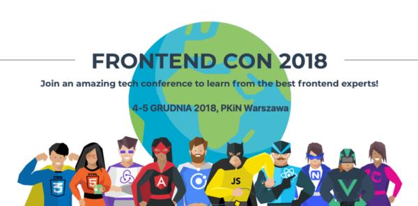Frontend Con 2018 odbędzie się juz 4-5 grudnia w Warszawie