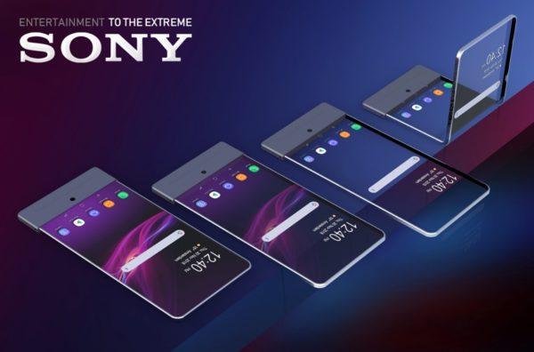 Sony patentuje składany smartfon z przezroczystym ekranem
