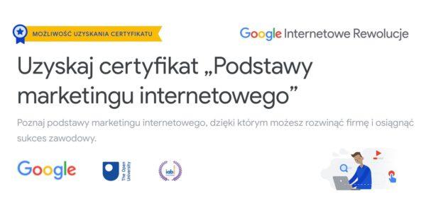 Szkolenie online z marketingu internetowego od Google'a z certyfikatem IAB
