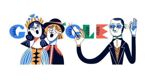 200. rocznica urodzin Stanisława Moniuszki w Google Doodle