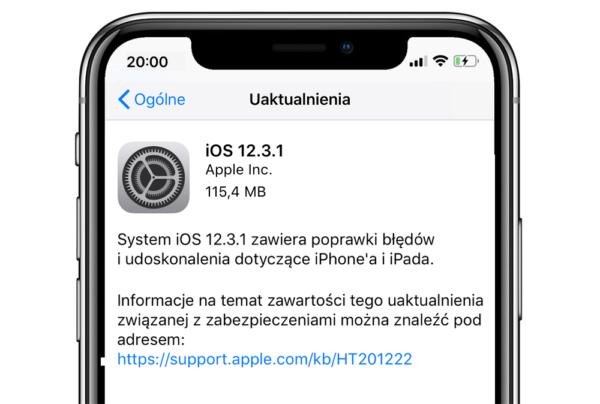 iOS 12.3.1 rozwiązuje problemy z VoLTE i Wiadomościami