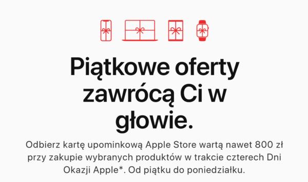 """Apple przygotowało karty upominkowe na """"Dni Okazji na Black Friday"""""""