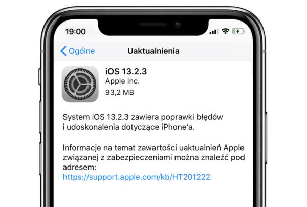 Aktualizacja iOS 13.2.3 (oraz iPadOS) z poprawkami błędów