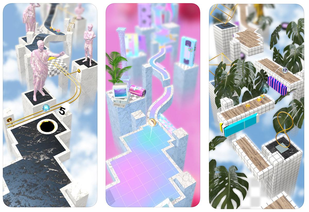 """Zrzuty ekranu z gry mobilnej """"Marbloid"""""""