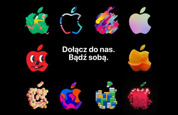 """Strona """"Praca w Apple"""" z nowym wyglądem i animowanym logo"""