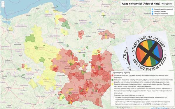 """Sprawdź nietolerancyjne regiony – """"strefy wolne od LGBT"""" w Polsce"""