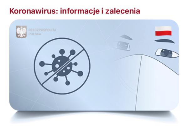 Informacje i zalecenia o koronawirusie w aplikacji mObywatel