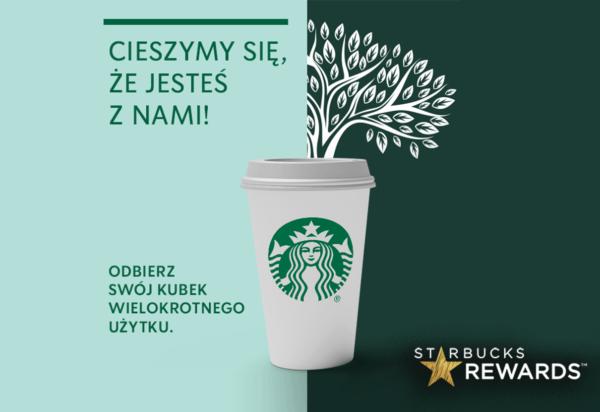 Kubek dla nowych użytkowników Starbucks Rewards