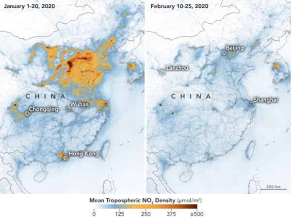 Koronawirus przyczynił się do poprawy jakości powietrza w Chinach?