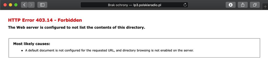 HTTP Error 403.14 – Forbidden  lp3.polskieradio.pl