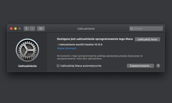 macOS Catalina 10.15.5 z funkcją zarządzania kondycją baterii