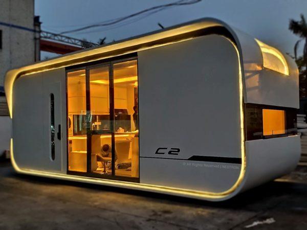 Nestron Cube Two wygląda jak statek kosmiczny i pomieści 4-osobową rodzinę
