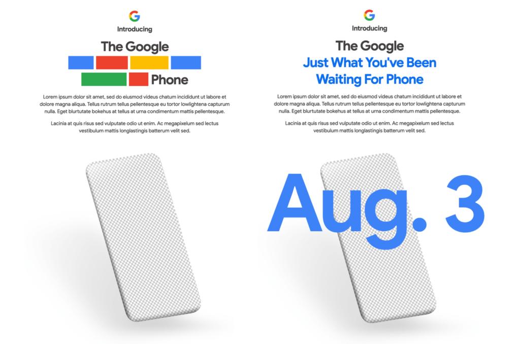 Zapowiedź premiery Google Pixel 4a na 3 sierpnia 2020 r.