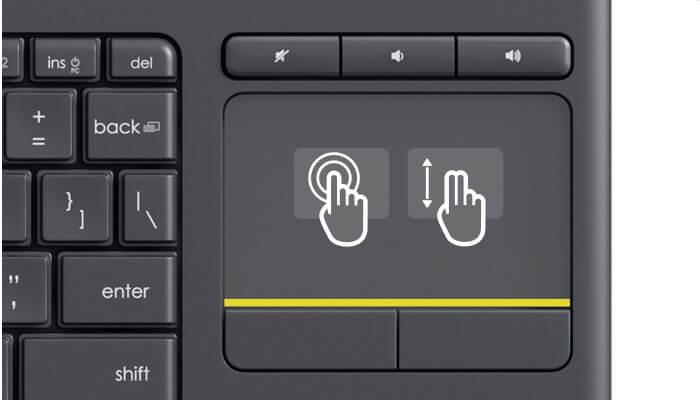 Touchpad w klawiaturze Logitech K400 Plus