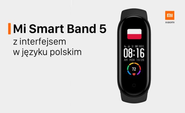 Już jest język polski w Xiaomi Mi Smart Band 5