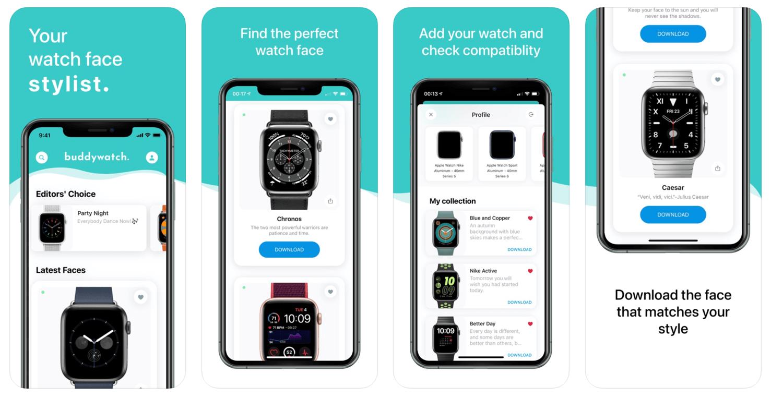 Zrzuty ekranu z aplikacji Buddywatch - Watch Faces