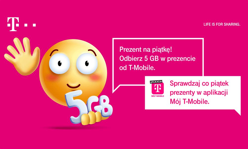 """Darmowe 5 GB w aplikacji """"mók T-Mobile"""" – Happy Fridays"""