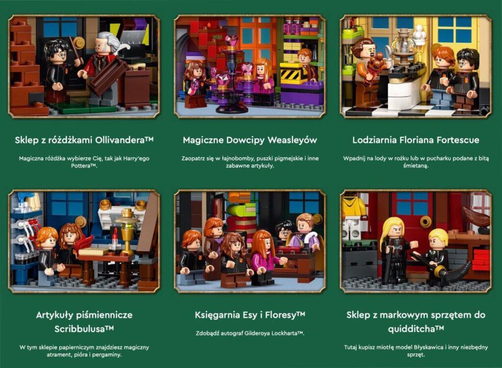 LEGO: Ulica Pokątna™ 75978 | Harry Potter - szczegóły zestawu