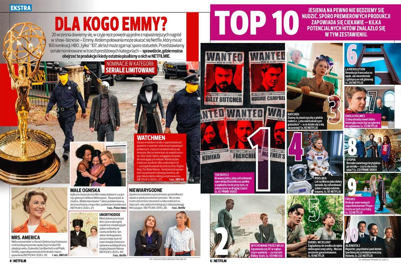Przykładowe strony z magazynu Netfilm (16. numer 5/2020)