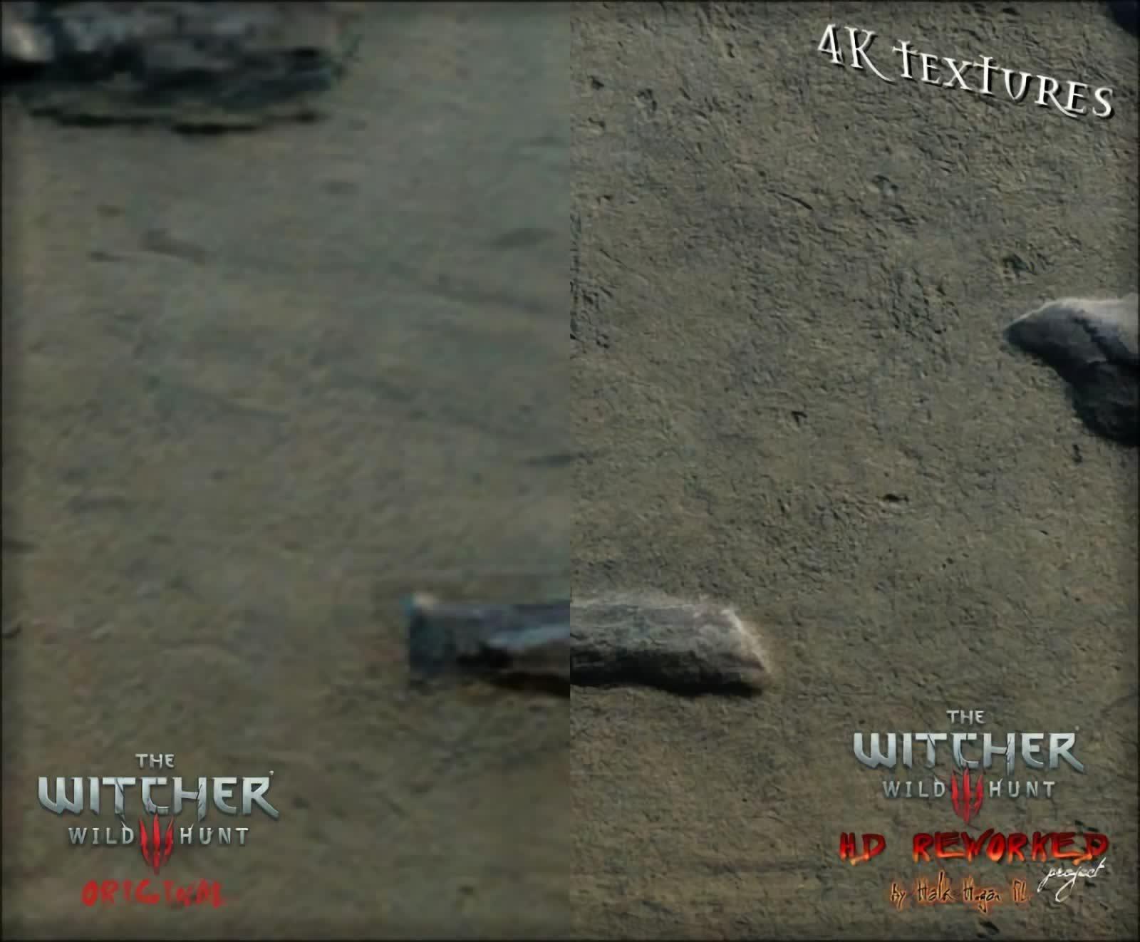 Porównanie grafiki Wiedźmina 3 z modem The Witcher 3 HD Reworked Project 12.0 Ultimate