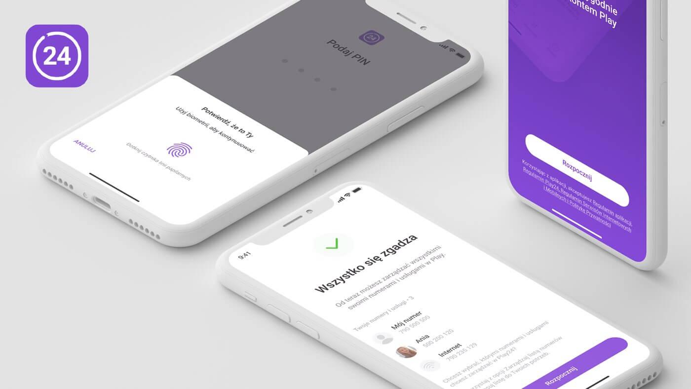 Aplikacja Play24 z obsługą biometrii