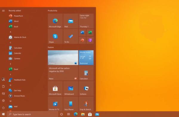 Aktualizacja Windows 10 z odświeżonym Menu Start